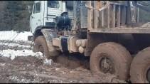 Мощь лесовозов КАМАЗ-4310, УРАЛ-375, ГАЗ-66 по бездорожью
