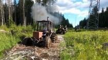 Турбо трактор и другие монстры едут на ЛЭП