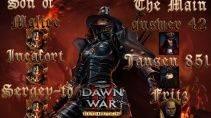 Dawn of War 2 - Retribution. Incafort, Sergey-to, Son of Malice vs Jansen, Fritz, The Main Answer.