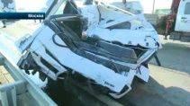 Авария на МКАД с фурой (Видео)