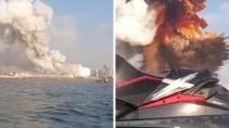 Прыгнул в воду чтобы спастись от взрыва в Бейруте