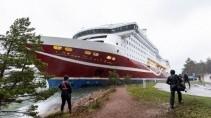 Корабль Viking Line сел на мель недалеко от Аланских островов в Балтийском море