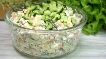 Салат оливье по новому на праздничный Новогодний стол