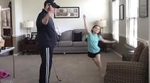 Как удивить своих детей с помощью мячика для гольфа