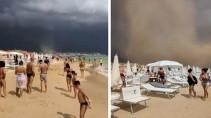 Смерч застал людей на пляже врасплох