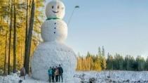 Сделали самого большого снеговика в мире