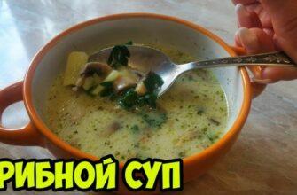 Грибной суп из шампиньонов - Простой домашний рецепт