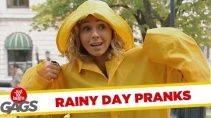 Веселые розыгрыши с дождем для настроения
