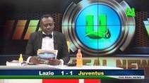 Африканец читает новости спорта на английском языке
