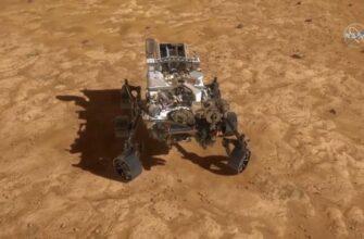 Видео посадки аппарата Perseverance на поверхность Марса