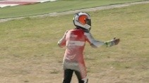 Спортсмен потерял свой мотоцикл на гонке