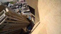 Экстримальный паркур на 43 этаже