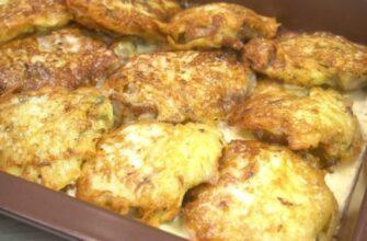 Мясо в картофельном кляре ставь хоть на праздничный стол