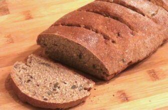 Бездрожжевой пшенично-ржаной хлеб с семенами за 40 минут