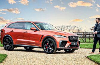 Jaguar F-PACE SVR (2021) Новый роскошный спортивный внедорожник