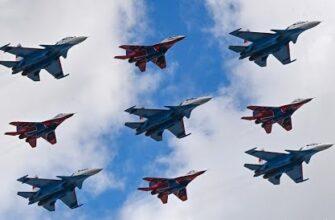 Авиашоу в Кубинке в честь 30-летия Русских Витязей и Стрижей