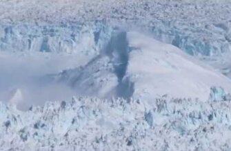 Движение ледника в Гренландии