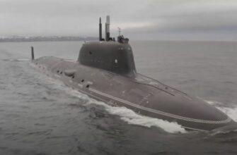 Подводная лодка «Казань» проекта «Ясень-М» прибыла на Северный флот