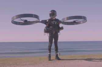 Вы слышали о реактивном ранце, этот парень летает на вертолете