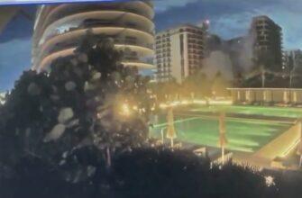 Момент обрушения многоэтажного дома в Майами 23 июня 2021