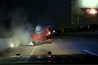 Полицейский перевернул машину беременной женщины за то, что она слишком медленно ехала
