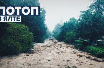 Потоп в Ялте 18.06.2021 - Видео очевидцев