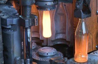 Производство стеклянных бутылок на удивление успокаивает