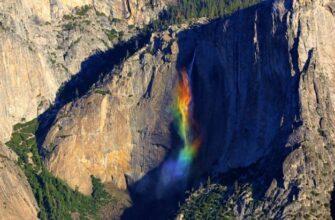 Радужный водопад в национальном парке Йосемити