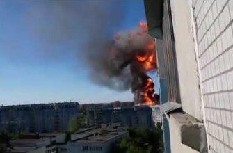 Взрыв на заправке в Новосибирске 14.06.2021