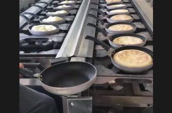Конвейер по выпеканию марокканского хлеба