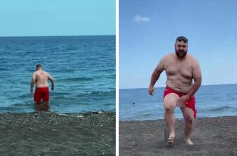 Купила мужу новые плавки и стала наблюдать за происходящим с пляжа