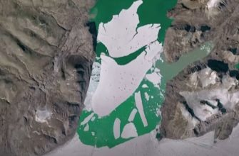 Таяние ледника в Гренландии, тает 8,5 млрд тонн льда