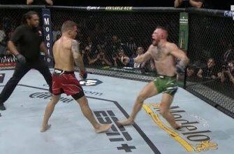 Момент когда Конор МакГрегор сломал ногу во время боя