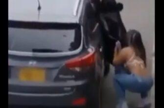 Кинематографический побег любовницы из автомобиля