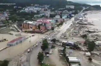 Последствия паводка на Кубани / видео с квадрокоптера