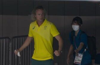 Реакция тренера на победу австралийской пловчихи