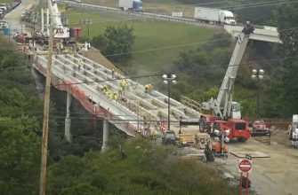 Строительство моста за 262 часа в режиме Time-lapse