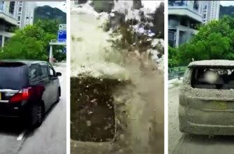 Вот почему нельзя резко тормозить перед цементовозом