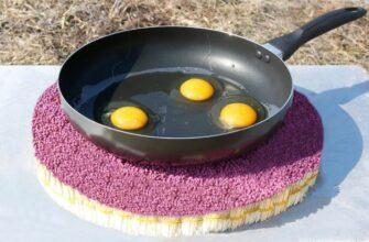 Яйца на сковородке против 12 000 спичек