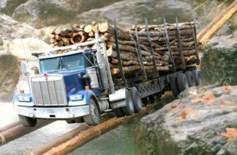 ТОП-10 грузовых машин, пересекающих реку и поднимающихся на гору
