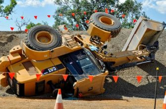 10 экстремально опасных ситуаций с грузовиками и экскаваторами