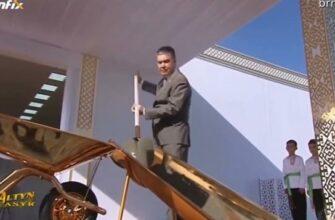 Президент Туркменистана очень любит золото