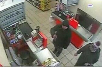 Реакция покупателей в магазине на вооруженное ограбление