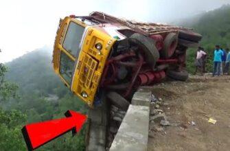 Аварии грузовиков видео и безумное вождение