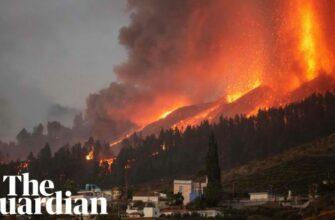 Извержении вулкана Ла-Пальме в Испании