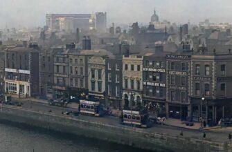 Видео кадры Дублина в 1915 году