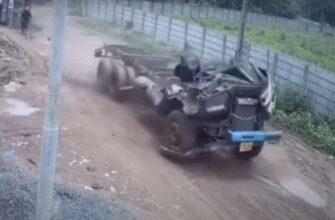 Самая необычная авария с грузовиком