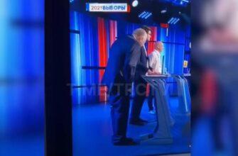 С Жириновского упали штаны во время теледебатов