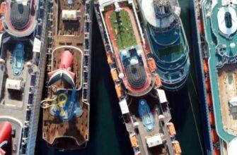 Жуткие кадры кладбища круизных лайнеров