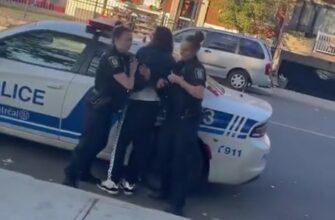 Неудачное задержание преступника полицейскими-женщинами